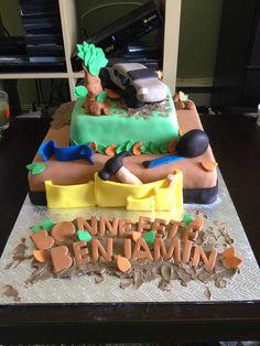 Gâteau pour un homme menuisier ainsi qu'un 4x4 en 3D ! :)