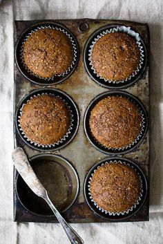 Healthy Gingerbread Muffins Healthy gingerbread muffins that are incredibly fluffy, warm and perfect with a cup of coffee. One of my favorite muffins to enjoy during the Winter. 134 calories per muffin! Healthy Muffin Recipes, Healthy Muffins, Healthy Sweets, Healthy Baking, Healthy Man, Healthy Snacks, Vegetarian Recipes, Baking Recipes, Dessert Recipes