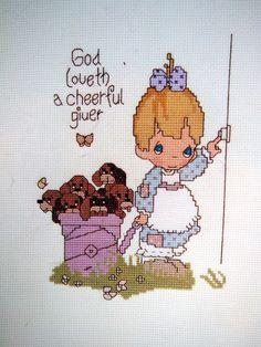 Dear Jon By Precious Moments Vintage Cross Stitch by NeedANeedle