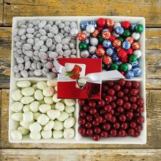 Christmas Gift Baskets - Christmas Candy and Chocolate Platter Christmas Gift Baskets, Christmas Sweets, Christmas Candy, Christmas Gifts, Christmas Ideas, Xmas, White Chocolate Peppermint Bark, Gourmet Gift Baskets, Christmas Chocolate