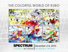 Spectrum Miami Art Show 2015. Carlos Kubo paintings!