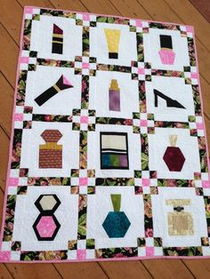 The Boudoir Quilt Pattern - Learn how to make a quilt that is decorative and feminine with this free quilt pattern.
