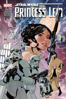 Princess Leia (2015) #4 The Empire is rounding up fugitive Alderaanians... ...that doesn't sit well with their Princess. But what can one woman do against an Empire? Star Wars © Lucasfilm Ltd. & TM. All rights reserved. Used under authorization. Text and illustrations for Star Wars are © 2015 Lucasfilm Ltd.
