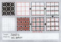 Santo - tangle pattern by perfectly4med, via Flickr