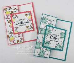 Fun Fold Cards, Folded Cards, Glitter Pits, Simple Card Designs, Chocolate Card, Make Your Own Card, Coffee Cards, Stampin Up Catalog, Happy Wednesday