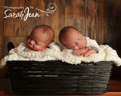 Infant photography  Twin boys