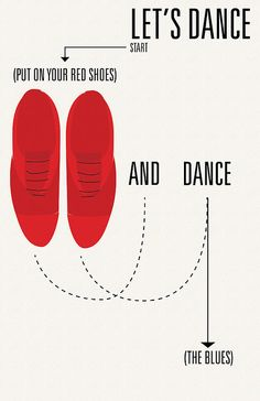 Red shoes and dance