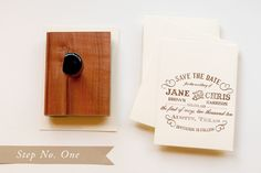 DIY SAVE THE DATE CARDS WITH RUBBER STAMPS