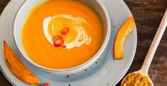 Recette de Soupe de patate douce curry et coco à IG bas. Facile et rapide à réaliser, goûteuse et diététique. Ingrédients, préparation et recettes associées.