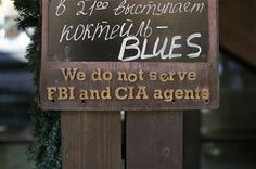 02-07-14 Sochi Olympics ~ KRASNAYA POLYANA, Russia (AP) — Here's an odd sign that Associated Press photographer Jae C. Hong ran across Friday in the mountains outside Sochi, where Olympic skiing and snowboarding competitions are being held. No word on the restaurant's policy toward the NSA.