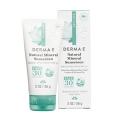 Derma E Natural Mineral Sunscreen Oil-Free Face Lotion - Derma E Natural Mineral Sunscreen SPF 30 Oil-Free Face Lotion helps shield skin from harmful UVA/UV Sunscreen Spf 50, Facial Sunscreen, Natural Sunscreen, Skincare For Oily Skin, Moisturizer For Oily Skin, Face Lotion, Broad Spectrum Sunscreen, Vitis Vinifera, Organic Skin Care