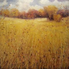 """Indian Summer Grasses."" Higginbotham will be showing work in ""Land as Spirit"" opening Aug. 28 at Waxlander Gallery. His interpretation of the miracle of nature is truly a blessing to witness."