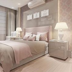The Meaning Of Gray Bedroom Design Pictures Remodel Decor And Ideas 28 - lowesbyte Gold Bedroom, Dream Bedroom, Bedroom Decor, Rose Gold Room Decor, Bedroom Ideas Rose Gold, Home Interior, Interior Design, Romantic Master Bedroom, Feminine Bedroom