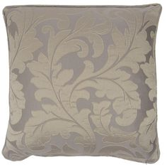 "MONACO MINK BEIGE TAUPE FLORAL WOVEN CUSHION COVER 17"" - 43CM #Modern"