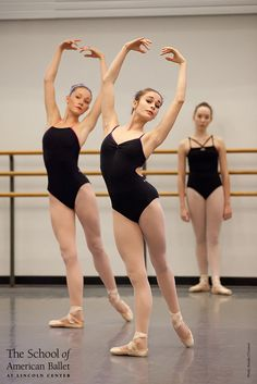 Advanced Girls C1 Technique class. #ballet School of American Ballet