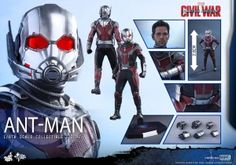 #HotToys #CaptainAmericaCivilWar #AntMan Sixth Scale Figure Pre-Orders http://affiliates.sideshowtoy.com/Tracker.aspx?aid=3031&sku=902698&cid=-1 #Marvel #TheAvengers