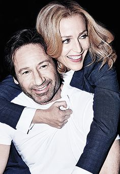 David Duchovny and Gillian Anderson in Entertainment Weekly