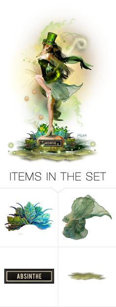 """St. Patrick's Day Fairy Taken by the Absinthe"" by ellen-hilart ❤ liked on Polyvore featuring art"
