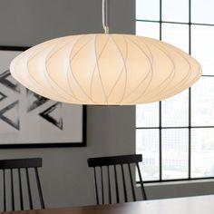 Legion Furniture Unique / Statement Geometric Pendant Size: H x W x D Lounge Lighting, Living Room Lighting, Bedroom Lighting, Interior Lighting, Contemporary Pendant Lights, Pendant Lighting, Oval Pendant, Globe Pendant, Nelson Bubble Lamp
