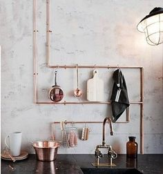 TREND: Exposed Copper Pipes - DesignClaud