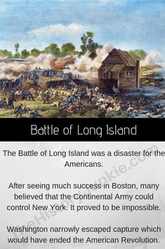 The Battle of Long Island was the first of many British victories in New York. The battle was a disaster for the Americans. Revolutionary War Battles, American Revolutionary War, American War, Military Art, Military History, Continental Army, American Independence, Brooklyn Heights, Freedom Of Speech
