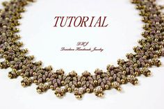 Tutorial superduo necklace Pdf by DESIBEADS on Etsy