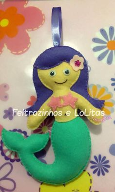 Pequena Sereia ♥ Feltrozinhos e LoLitas ♥ _*www.facebook.com/flolitas*_