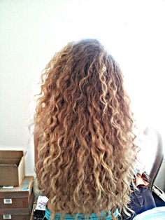 Love the color and length rock yo hair pinterest hair for curly hair mix water and salt for beach hair pmusecretfo Gallery
