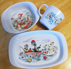 Noritake Melamine Children's Dinnerware Set | Found te plate & bowl at Vinnies Parra for $4