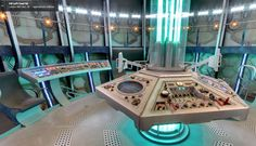 TARDIS interior, just the sort of design I was thinking about....but flatter.