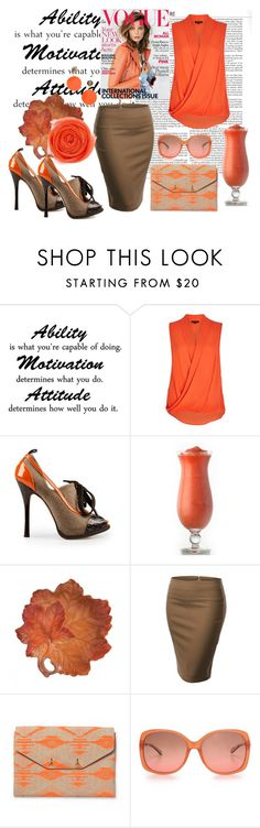 """""""ORANGE PEEL 1!"""" by tailichuns ❤ liked on Polyvore featuring River Island, Dsquared2, Fitz and Floyd, Stella & Dot, M Missoni and VICKISARGE"""