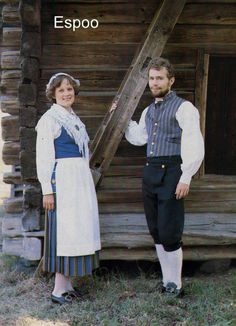 Espoo Folk Costume, Costumes, Costume Patterns, Traditional Dresses, Folklore, Women Wear, Normcore, 7 Continents, Folk Clothing