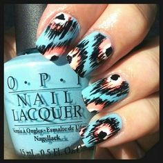 By Nicki T. #ikat nail print #tribal #opi @BLOOM.COM