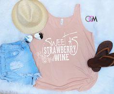 Sweet as Strawberry Wine Tank Country Music Shirt Chris