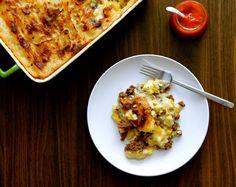 Pâté chinois aux fromage en grains Lasagna, Cauliflower, Crockpot, Sushi, Gluten, Dishes, Vegetables, Cooking, Ethnic Recipes