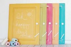 How to chalkboard any surface in any color, so easy!! #diy #chalkboard by MyLittleCornerOfTheWorld