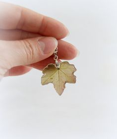 Real green leaf Neklace Resin Necklace Resin от JuliaCreaStyle