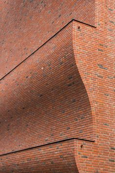 Sports Block Groningen by Marlies Rohmer Architects & Urbanists. Brick Facade, Brick Wall, Brick Images, Brick Architecture, Sports Complex, Playground Design, Brick Design, Brick And Stone, Learning Spaces