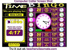 Time Bingo with interactive whiteboard option is designed for students in the 3rd Grade. Use the Computer Caller option to draw question cards and display called answers while the rest of your students play along with their own bingo cards. Full download is three dollars.