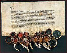 Deutscher Orden – Vertrag des Deutschen Ordens mit der dänischen Königin Margarethe I. über die Rückgabe Gotlands