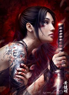 "One of the most awesome female ""warrior"" type images I've ever seen. It has to be at least in my top 3 favorites."