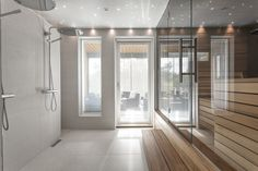 Seesteinen tunnelma kylpytiloissa Villa Design, House Design, Sauna Design, Home Id, Laundry In Bathroom, Loft Style, Home Decor Inspiration, My Dream Home, Home Projects