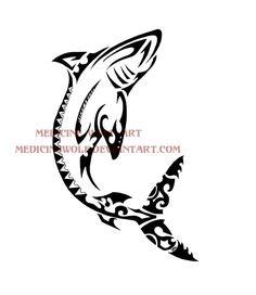 Polynesian Shark by IkaikaDesign.deviantart.com on @deviantART