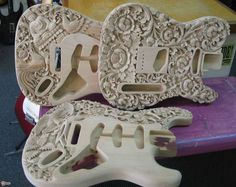 carved body guitar | style Carved Strat and Tele bodies > Guitars : Electric Solid Body ...