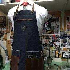 avental para barbearia personalizado lançamento p barbershop
