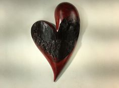 Heart red Myrtlewood Anniversary gift wall by TreeWizWoodCarvings