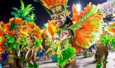 Members of Vila Isabel samba school perform during the Carnival at Sapucai Sambadrome in Rio de Janeiro, Brazil. Carnival Parade, Rio Carnival, Carnival Costumes, Carnival Outfits, Samba Rio, Brazil Culture, Celebration Around The World, Festivals Around The World, Lonely Planet