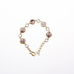 Labradorite & Blue Topaz Bracelet with 24K Gold Vermeil handmade settings from Wanderlust Jewels LLC for $420.00