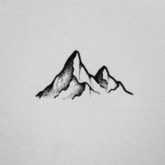 Simple art ideas drawing doodles Ideas for 2019 Ink Drawings, Easy Drawings, Tattoos Pinterest, Doodle Drawing, Drawing Art, Mountain Sketch, Mountain Drawing Simple, Stippling Art, Stippling Tattoo