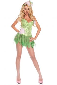Love the rhinestones and corset on this one! Halloween, here we come!  Frog Princess Costume | Spurst.com
